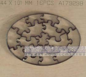Oval jigsaw puzzle dies